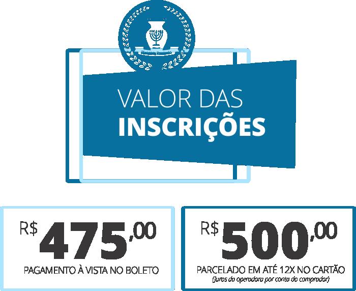 Inscrições para REMISSÃO - Valores